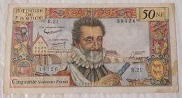 France 50 NF Nouveaux Francs Henri 4 IV Série R.21 Du L.2.7.1959.L - 1959-1966 Nouveaux Francs