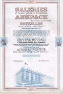 Action Uncirculed - Galeries Et Grand Bazar Du Boulevard Anspach - - Industrie