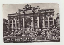 ROMA - LA FONTANA DI TREVI - CARTOLINA FOTOGRAFICA VIAGGIATA VERSO LA GERMANIA - POSTCARD - Fontana Di Trevi