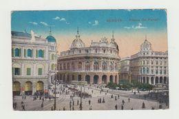 GENOVA (LIGURIA) - PIAZZA DE FERRARI - VIAGGIATA 1918 - POSTCARD - Genova