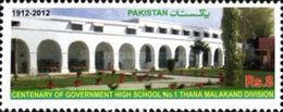 PAKISTAN MNH** STAMPS ,  2012 The 100th Anniversary Of Government High School No 1, Thana Malakand - Pakistan