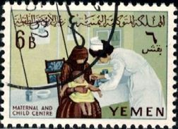 Child Welfare, Nurse Vaccination, Yemen Stamp SC#133 Used - Yémen