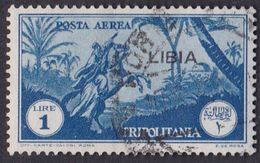 Italy-Colonies And Territories-Libya AP 29  1937 Overprinted 1 Lira Blue ,used - Libya