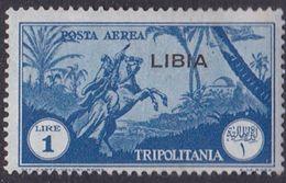 Italy-Colonies And Territories-Libya AP 29  1937 Overprinted 1 Lirablue ,mint Hinged - Libya