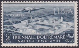 Italy-Colonies And Territories-Libya AP 43 1940 Triennial Overseas Exposition,2 Lira +75c Slate,mint Hinged - Libya