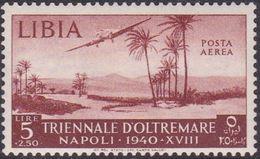 Italy-Colonies And Territories-Libya AP 44 1940 Triennial Overseas Exposition,5 Lire + 2,50 Red Brown,mint Hinged - Libya