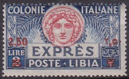 Italy-Colonies And Territories-Libya E 10 1922 Special Delivery Stamp,2,50 On 2 Lire,mint Never Hinged - Libya