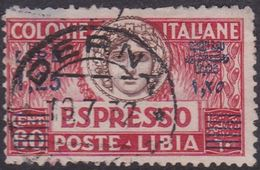 Italy-Colonies And Territories-Libya E 12 1922 Special Delivery Stamp,1,25 Lira On 60c Used - Libya