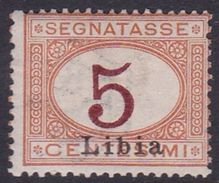 Italy-Colonies And Territories-Libya PD 1 1915 Postage Due,5c Orange And Carmine,mint Hinged - Libya