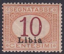 Italy-Colonies And Territories-Libya PD 2 1915 Postage Due,10c Orange And Carmine,mint Hinged - Libya