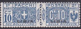 Italy-Colonies And Territories-Libya PP 2 1915-24 Parcel Post,10c Blue,mint Hinged - Libya