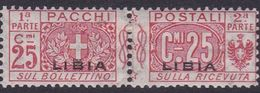 Italy-Colonies And Territories-Libya PP 4 1915-24 Parcel Post,25c Red,mint Hinged - Libya