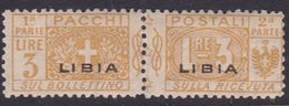 Italy-Colonies And Territories-Libya PP 8 1915-24 Parcel Post,3 Lire Yellow,mint Hinged - Libya