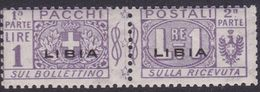 Italy-Colonies And Territories-Libya PP 10 1915-24 Parcel Post,1 Lira Violet Mint Never Hinged - Libya