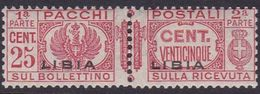Italy-Colonies And Territories-Libya PP 15 1927-37 Parcel Post,25c Carmine,mint Never Hinged - Libya