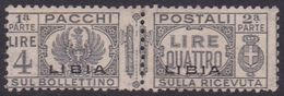 Italy-Colonies And Territories-Libya PP 22 1927-37 Parcel Post,4 Lire Gray,mint Never Hinged - Libye