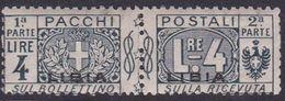 Italy-Colonies And Territories-Libya PP9 1915-24 Parcel Post,4 Lire Slate,mint Hinged - Libya