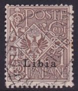 Italy-Colonies And Territories-Libya S 1 1912-15 1c Brown ,used - Libya