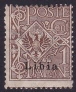 Italy-Colonies And Territories-Libya S 1 1912-15 1c Brown Mint Hinged - Libya