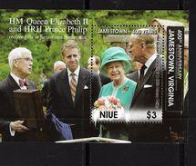 NIUE 2007 VISTE D'ELIZABETH  YVERT N°B156  NEUF MNH** - Familles Royales