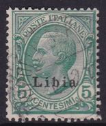 Italy-Colonies And Territories-Libya S 3 1912-15 ,5c Green Type 2, Used - Libya