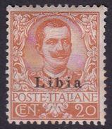 Italy-Colonies And Territories-Libya S 6 1912-15 ,20c Orange, Mint Hinged - Libya