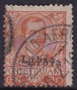 Italy-Colonies And Territories-Libya S 6 1912-15 ,20c Orange, Used - Libya
