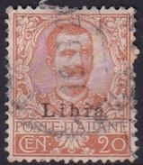 Italy-Colonies And Territories-Libya S 6 1912-15 ,20c Orange,type 2, Used - Libya