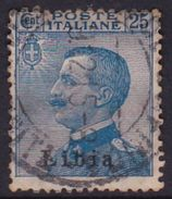 Italy-Colonies And Territories-Libya S 7 1912-15 ,25c Blue, Used - Libya