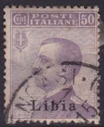 Italy-Colonies And Territories-Libya S 9 1912-15 ,50c Violet,used - Libya
