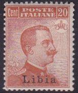 Italy-Colonies And Territories-Libya S 20 1918 ,20c Orange,Mint Hinged - Libya