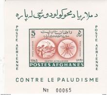 Afghanistan, Scott 674D, 1964 Eradication Of Malaria Imperforated Souvenir Sheet MNH - Afghanistan