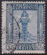 Italy-Colonies And Territories-Libya S 26 1921 ,Pictorials, 25c Diana Of Ephesus,used - Libyen