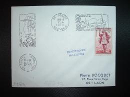 L. TP GARGANTUA 6F OBL.MEC.2-4-1970 SOULTZ (68 HAUT-RHIN) Au Pied Des Hautes Vosges - Oblitérations Mécaniques (flammes)