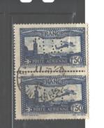 "FRANCE ""FRANCE Perfins:""G. R"" 1930 - 1931 #C6a USED PAIR  $42.00"" - France"