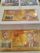 "BRUNEI   ""Just Issued""  50 Ringgit  ""Commemorative Issue With SIngapore 50 ""  FOLDER   2017    Pnew   UNC - Brunei"