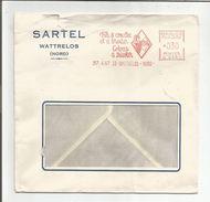 EMA SUR LETTRE DE WATTRELOS NORD DU 17/4/1967 - Marcofilie (Brieven)
