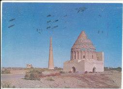 Turkmenistan Postcard Sent To Switzerland With Olympic Games Atlanta 1996 Boxing Stamp (1 Weak Corner Of The Card) - Turkmenistan