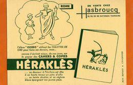 BUVARD : Papiers Des Cahiers HERAKLES Rome  HASBROUCQ Tourcoing - Papeterie