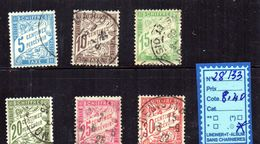 FRANCE TAXE  OBLITERE - N°28/33 - Postage Due