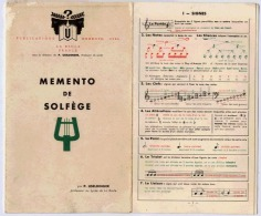 MEMENTO DE SOLFEGE 1955 - Musik & Instrumente
