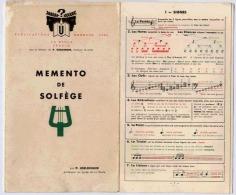 MEMENTO DE SOLFEGE 1955 - Etude & Enseignement