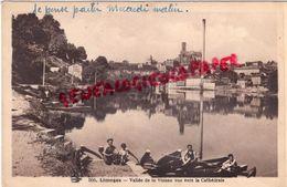 87 - LIMOGES - VALLEE DE LA VIENNE VUE VERS LA CATHEDRALE 1940 - Limoges