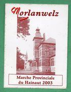 MORLANWELZ MARCHE PROVINCIALE DU HAINAUT 2003  / AUTOCOLLANT - Autocollants