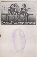 Carte Postale. Dienst's Musikinscrumence. Musique. Delhaize. Rare - Cartes Postales
