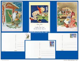 FINLAND 1991 PREPAID CHRISTMAS POSTCARDS SET OF 3 UNUSED - Postwaardestukken