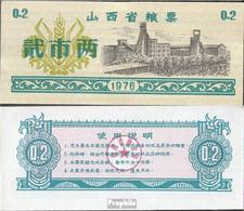 Volksrepublik China Chinesischer Lebensmittelgutschein Bankfrisch 1976 0,2 Jiao - China