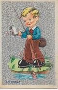 LA PESCA - EDIZ. FB 1942 # 433M - VIAGGIATA 26.08.1943 DA SOMAGGIA (SO) - Disegni Infantili