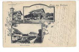 17377 -  Gruss Aus Dettligen  Gemeindehaus Hôtel (Etat Moyen) - BE Berne