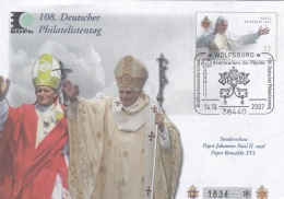 Germany Postal Stationary 2007 Papst Bendikt XVI/Papst Johannes Paul II   Used Altötting 2007  (DD3-39) - Pausen